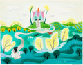 Animation Art:Concept Art, Mary Blair The Little House Concept/Color Key Painting (Walt Disney, 1952). ...