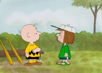 Peanuts The Charlie Brown and Snoopy ShowPeppermint Patty and Charlie Brown Production Cel (Bill Melendez, 1983)
