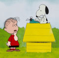 Animation Art:Production Cel, Peanuts The Charlie Brown and Snoopy Show Linus and Snoopy Production Cel (Bill Melendez, 1983)....