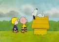 Animation Art:Production Cel, Peanuts The Charlie Brown and Snoopy Show Production Cel Setup with Animation and Layout Drawings (Bill Melendez, ... (Total: 3 Original Art)