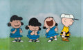 Animation Art:Production Cel, Peanuts The Charlie Brown and Snoopy Show Production Cels Sequence of 4 with Animation Drawing (Bill Melendez, 198... (Total: 2 Original Art)