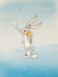 Animation Art:Presentation Cel, Bugs Bunny Presentation Cel and Painted Background (Warner Brothers, 1942)....