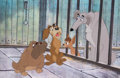 Animation Art:Production Cel, Lady and the Tramp Pound Dogs Production Cel (Walt Disney, 1955)....