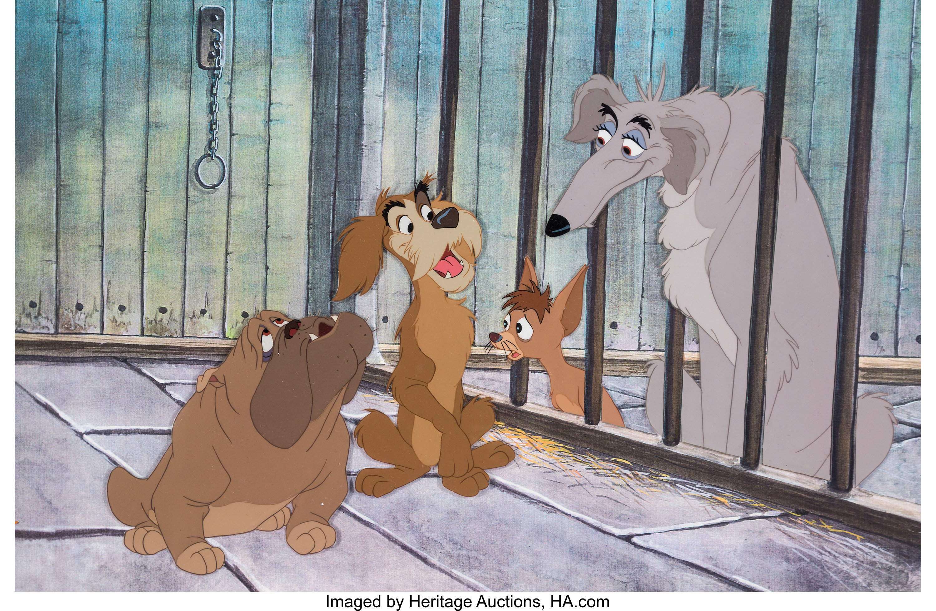 Lady And The Tramp Pound Dogs Production Cel Walt Disney Lot 62230 Heritage Auctions
