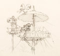 Animation Art:Production Drawing, Mickey's Man Friday Mickey Mouse Publicity Drawing (Walt Disney, 1935)....