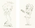 Animation Art:Production Drawing, Betty Boop's May Party and She Wronged Him Right Betty Boop Animation Drawings (Max Fleischer,...