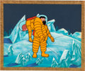 "Animation Art:Production Cel, The Adventures of Tintin ""Destination Moon"" Tintin and Haddock Production Cel on Production Background (Larry Harmon P..."