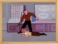 "The Adventures of Tintin ""Destination Moon"" Tintin and Colonel Boris Jorgen Production Cel on Production B"