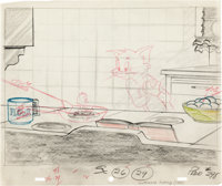 Southbound Duckling Tom and Quacker Layout Drawing (MGM, 1955)