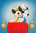 Animation Art:Production Cel, The Nifty Nineties Mickey and Minnie Mouse Production Cel Courvoisier Setup (Walt Disney, 1941). . ...