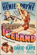 """Movie Posters:Musical, Iceland (20th Century Fox, 1942). Folded, Fine+. One Sheet (27"""" X 41""""). Musical.. ..."""
