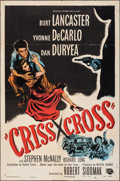 "Movie Posters:Film Noir, Criss Cross (Universal International, 1949). Folded, Fine. One Sheet (27"" X 41""). Film Noir.. ..."