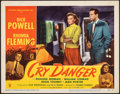 "Movie Posters:Film Noir, Cry Danger (RKO, 1951). Very Fine-. Autographed Lobby Card (11"" X 14""). Film Noir.. ..."
