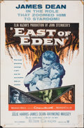 "Movie Posters:Drama, East of Eden (Warner Bros., R-1957). Folded, Fine. One Sheet (27"" X 41""). Drama.. ..."