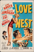 "Movie Posters:Comedy, Love Nest (20th Century Fox, 1951). Folded, Fine+. One Sheet (27"" X 41""). Comedy.. ..."