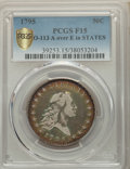 1795 50C 2 Leaves, A Over E in STATES, O-113a, T-14, R.4, Fine 15 PCGS
