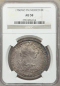 Mexico, Mexico: Charles III 8 Reales 1786Mo-FM AU58 NGC,...