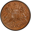 India:British India, India: British India. East India Company 1/2 Anna 1835-(b) MS64 Red and Brown PCGS,...