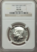 1967 50C SMS MS68 NGC. NGC Census: (0/0). PCGS Population: (55/0). Mintage 1,800,000