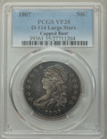 Bust Half Dollars, 1807 50C Capped Bust, Large Stars, O-114, R.3, VF35 PCGS. PCGS Population: (7/20). NGC Census: (0/23). VF35....