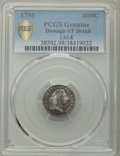 1795 H10C V-5, LM-8, R.3, -- Damage -- PCGS Genuine. VF Details