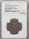 Large Cents, 1795 Plain Edge, S-76b, B-4b, R.1 -- Double Curved Planchet Clips -- Fine 12 NGC. Smooth and glossy light-brown surfaces, i...
