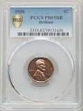 1936 1C Type Two--Brilliant Finish PR65 Red and Brown PCGS. PCGS Population: (16/1 and 0/0+). NGC Census: (16/4 and 0/0+...