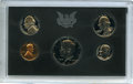 1971-S 1C-50C Five-Piece Proof Set, Including No S Nickel, Uncertified. The coins remain housed in the original plastic...