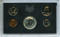 1970-S 1C-50C Five-Piece Proof Set, Including No S Dime, Uncertified. The coins remain housed in the original plastic Mi...