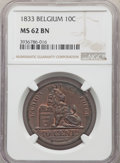 Belgium: Leopold I 10 Centimes 1833 MS62 Brown NGC