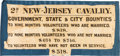 Military & Patriotic:Civil War, Civil War Era Recruiting Banner for the 2nd New Jersey Cavalry.. ...