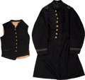 Militaria:Uniforms, Beautiful Regulation 1864-1865 Navy Assistant Paymaster Frock Coat and Vest. . ... (Total: 2 )