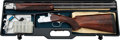 Shotgun:Double Barrel, Cased 12 Gauge Beretta ASE90 Gold Trap Boxlock Over and Under Shotgun....