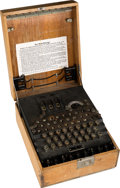 "Military & Patriotic:WWII, ""Enigma"" Encrypting Machine Used by the German Military in WWII.. ..."