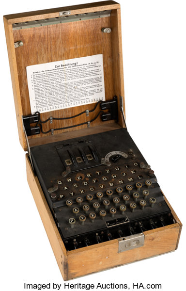 "Military & Patriotic:WWII, ""Enigma"" Encrypting Machine Used by the German Military in..."