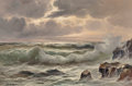 Paintings, Guido Odierna (Italian, 1913-1991). Crashing Waves. Oil on canvas. 24 x 36 inches (61.0 x 91.4 cm). Signed lower left: ...