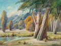 Paintings, Paul Grimm (American, 1891-1974). Pleasant Retreat, 1938. Oil on canvasboard. 18 x 24 inches (45.7 x 61.0 cm). Signed lo...
