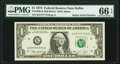 Small Size:Federal Reserve Notes, Super Radar 57777775 Fr. 1908-K $1 1974 Federal Reserve Note. PMG Gem Uncirculated 66 EPQ.. ...