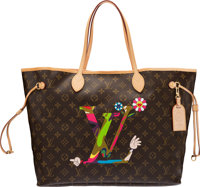 "Louis Vuitton x Takashi Murakami Limited Edition MOCA Neverfull GM Bag Condition: 1 16"" Width x 1"