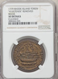 1778-79 MEDAL Rhode Island Ship Medal, VLUGTENDE Removed, Brass -- Cleaned -- NGC Details. XF. Betts-562, Breen-1139, Wh...
