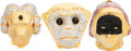 Luxury Accessories:Accessories, Judith Leiber Set of Three: Monkey Head, Mask, and Ram Head Pill Boxes. Condition: 2. See Extended Condition Report fo... (Total: 3 )