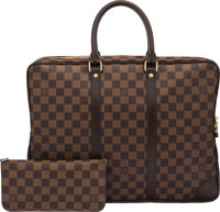 Louis Vuitton Set of Two: Damier Ebene Porte-Documents Voyage Bag & Insolite Wallet Condition: 3 See Extended Co...