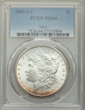 1881-CC $1 GSA MS64 PCGS. PCGS Population: (8311/6866). NGC Census: (3919/3060). CDN: $460 Whsle. Bid for problem-free N...