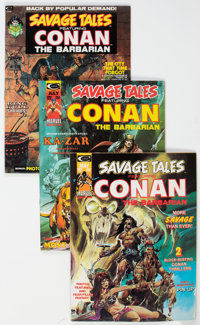 Savage Tales Group of 9 (Marvel, 1973-75) Condition: Average VF/NM.... (Total: 9 )
