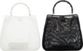 "Luxury Accessories:Bags, Gucci Set of Two: Mesh Bamboo Totes. Condition: 4. 15"" Width x 13"" Height x 4"" Depth. ... (Total: 2 Items)"