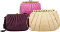 Luxury Accessories:Bags, Judith Leiber Set of Three: Lizard and Snakeskin Evening Bags. Condition: 2. See Extended Condition Report for Sizes..... (Total: 3 Items)