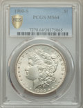 Morgan Dollars, 1900-S $1 MS64 PCGS. PCGS Population: (1922/764 and 76/47+). NGC Census: (923/206 and 23/5+). CDN: $475 Whsle. Bid for prob...