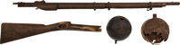 Gettysburg Confederate Presentation Cannon Ball From General Meade's HQ And Battlefield Relics