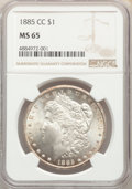 1885-CC $1 MS65 NGC. NGC Census: (1801/782). PCGS Population: (4520/1380). CDN: $780 Whsle. Bid for problem-free NGC/PCG...