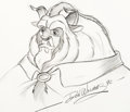 Animation Art:Production Drawing, Beauty and the Beast Illustration by...